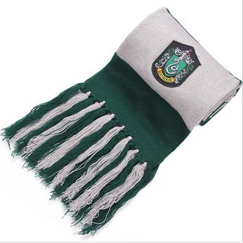 Acrylic Scarf Gryffindor / Hufflepuff / Ravenclaw / Slytherin Scarves Wide Striped Warm Personality Cosplay support 2018