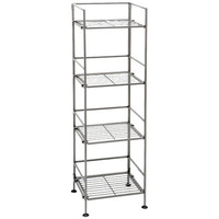 4-Shelf Iron Tower Storage Shelves - Great For Kitchen Office Garage