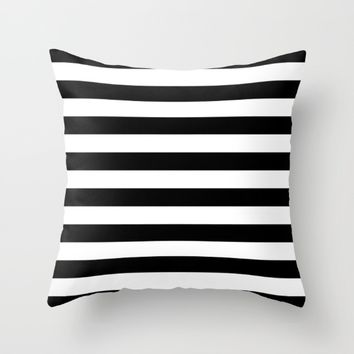 #12 Lines Throw Pillow by Minimalist Forms