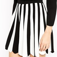ASOS Co-ord Knitted Skater Skirt In Mono