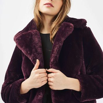 Crop Chubby Faux Fur Coat - Trending Now - New In