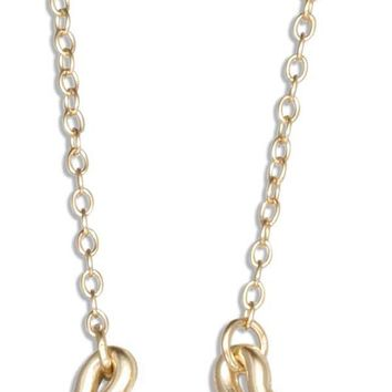 """Sterling Silver 16-18"""" Adj Gold Colored Good Luck Horseshoe Pendant Necklace"""