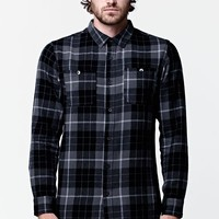 Modern Amusement Rascal Long Sleeve Flannel Button Up Shirt - Mens Shirt - Black