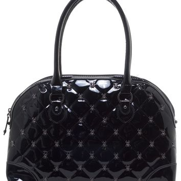 GG ROSE LUCY QUILTED HANDBAG BLACK