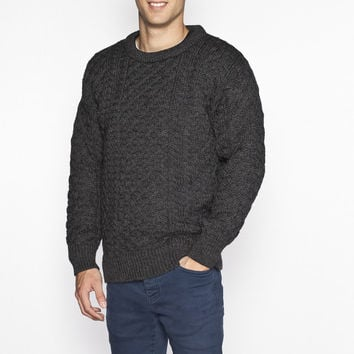 Crew Neck Irish Wool Sweater