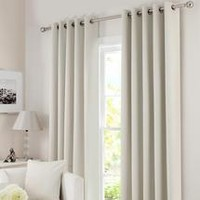Waters and Noble Natural Solar Eyelet Curtain Collection | Dunelm