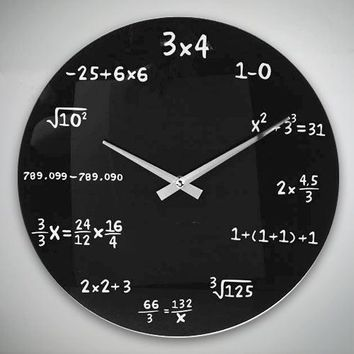 Maths Wall Clock