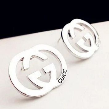 GUCCI Popular Ladies Logo Letter Earring+Best Gift