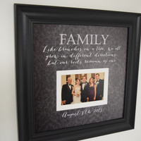 Family Photo Frame - Like Branches on a Tree quote frame - Wedding Frame - Picture Frame - Custom Family Photo Frame - 15x15 Framedaeon