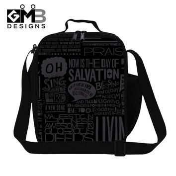 Personalized Insulated Lunch Bags for Men,Boys Black Thermal Lunch Box Bags for School,Adults food bag,Crossbody lunch Container