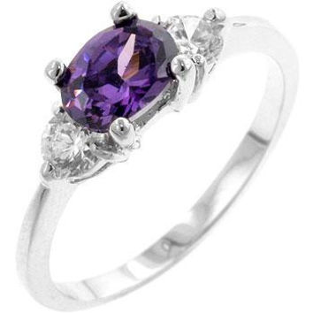 Oval Sonnet Cubic Zirconia Ring, size : 08