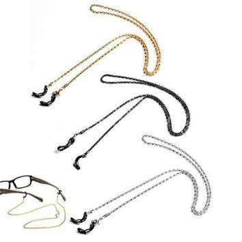 Metal Neck Cord Strap Chain Reading Glasses Sunglasses Spectacles Holder Necklace Lanyard Silver/Black/Gold 12Pcs/Lot