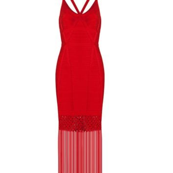 Fortune Red Fringe Dress