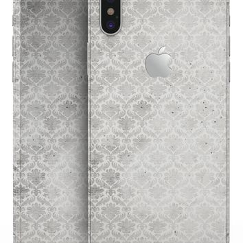 Micro Faded Black and White Damask Pattern - iPhone X Skin-Kit