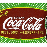 Drink Coca Cola Authentic Wood Refresh Yourself Magnet New