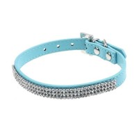 Leather Twinkling Diamond Collar