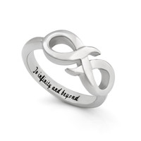 "Infinity Ring, Promise Ring Infinity Symbol Ring ""To Infinity and Beyond"" Engraved on Inside Best Gift for Friend or Loved one"