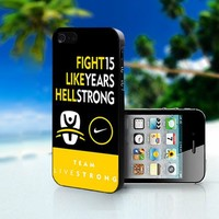 Livestrong Nike Quotes  yellow - Photo On Hard Cover For iPhone 5