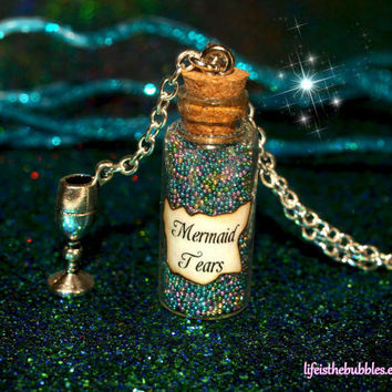 Mermaid Tears Magical Bottle with a Silver by LifeistheBubbles