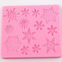 New Snowflake Silicone Fondant Cake Topper Mold Chocolate Sugarcraft Decorating