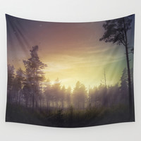 They told me you were here Wall Tapestry by HappyMelvin