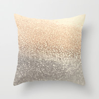 GATSBY GOLD Throw Pillow by Monika Strigel