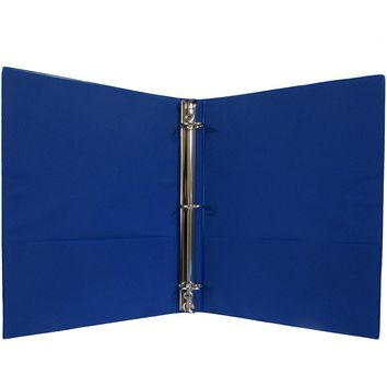 "1"" Hard Cover (PVC Free) 3-Ring Binder - Navy - CASE OF 24"