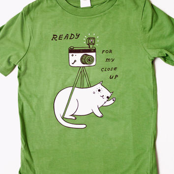 Organic Kids T-shirt / Toddler T-shirt / Cat Shirt by Susie Ghahremani / boygirlparty.com