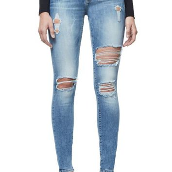 Good American Good Legs Ripped Skinny Jeans (Blue 068) | Nordstrom