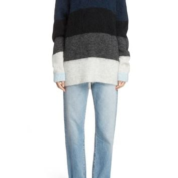Acne Studios Stripe Oversized Sweater | Nordstrom
