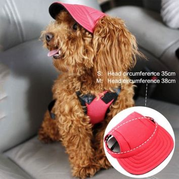 """free Shipping"" Dog Baseball Hat For Summer For Small Dogs. Protect Their Eyes"