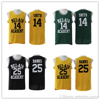 New Jersey state Basketball Jersey Fresh Prince #14 Will Smith Jerseys Carlton Banks Jerseys #25 Bel Air academia Jersey free shipping