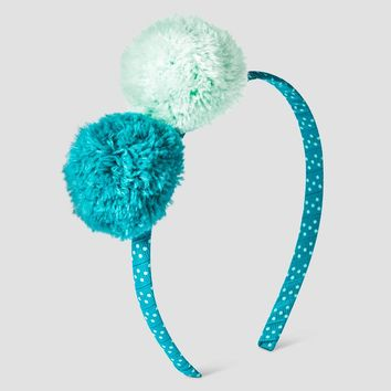 Girls' Headband with Poms Cat & Jack™ - Green