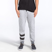 Hurley Active Block Party Retreat Mens Sweatpants Heather Grey  In Sizes