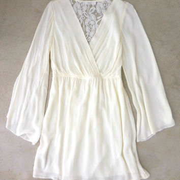 Bohemian Ivory Lace Party Dress