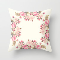 Roses Throw Pillow by Mercedes