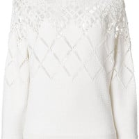 Chloé Round Neck Crochet Jumper - Farfetch