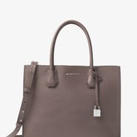 Mercer Large Bonded-Leather Satchel | Michael Kors
