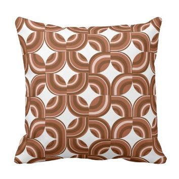 beautiful brown pattern throw pillow