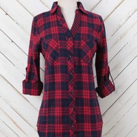 Altar'd State Bountiful Brilliance Plaid Top | Altar'd State