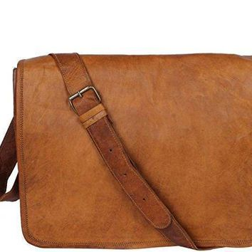 Pure Rustic Leather Genuine Leather Cross-body Messenger Bag (upto 18Inches)
