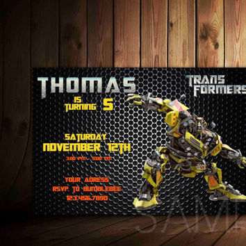 Transformer Birthday Invitation Card Personalized, Spiderman Birthday Invitation