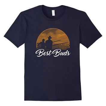 Best Buds Matching Father Son Fishing T-Shirt - Father's Day