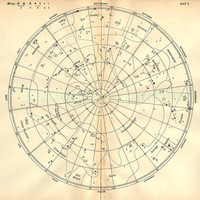 1897 Vintage Star Chart Beautiful Celestial Map, Constellations Planets Zodiac