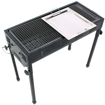 Portable Outdoor Foldable Metal Charcoal Grill Barbecue Tool For Camping Hiking Hunting, Fishing and Backyard Tailgate Party