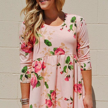 Pretty In Pink Floral Tunic