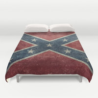 Confederate flag Vintage version Duvet Cover by LonestarDesigns2020 - Flags Designs +