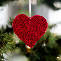 Heart Ornament - Christmas Ornament - Paper Ornament - Quilled Ornament - Paper Quilling