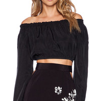 FLYNN SKYE Genevieve Crop Top in Black