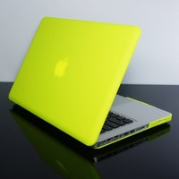 "Kuzy - YELLOW 13-inch Ultra Slim Rubberized Hard Case Light Weight Matte Cover for MacBook Pro 13.3"" (A1278 with or without Thunderbolt) Aluminum Unibody - Yellow"